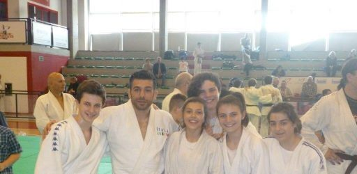 Pino Maddaloni e i ragazzi della Pro Patria Judo-Maggio 2016