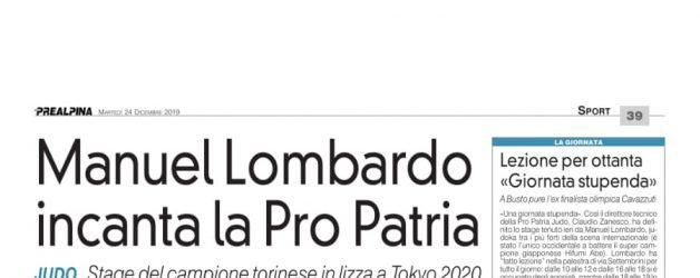 23 Dicembre Manuel Lombardo alla Pro Patria